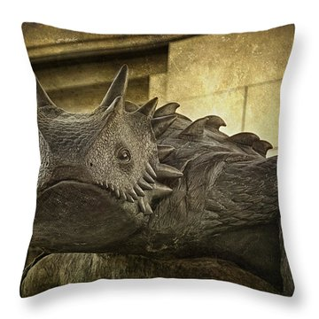 Tcu Horned Frog Throw Pillow by Joan Carroll