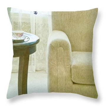 Tea Time Throw Pillow by Margie Hurwich