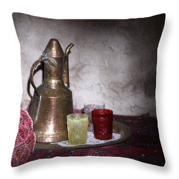 Tea Time Throw Pillow by Shoal Hollingsworth