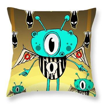 Team Alien Throw Pillow by Johan Lilja
