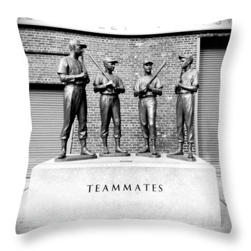Teammates Throw Pillow by Greg Fortier