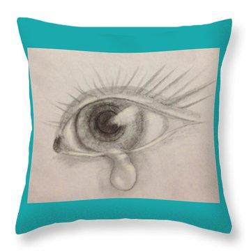 Tear Throw Pillow by Bozena Zajaczkowska