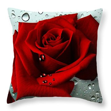 Tears From My Heart Throw Pillow by Morag Bates