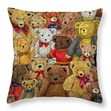 Ted Spread Throw Pillow by Ditz