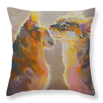 Telling Secrets Throw Pillow by Kimberly Santini