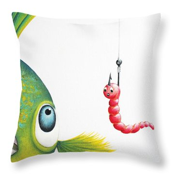 Temptation Throw Pillow by Oiyee At Oystudio