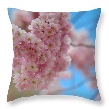 Tender Whisper. Pink Spring In Amterdam Throw Pillow by Jenny Rainbow