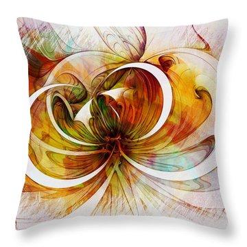 Tendrils 14 Throw Pillow by Amanda Moore
