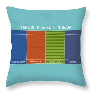 Tennis Player-s Dream Throw Pillow by Carlos Vieira