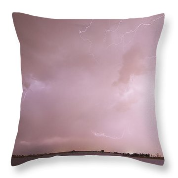 Terry Lake Lightning Thunderstorm Throw Pillow by James BO  Insogna