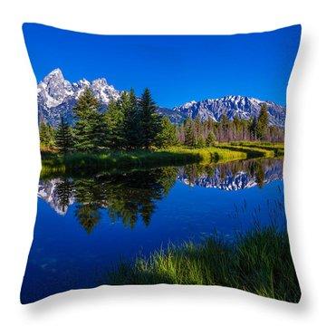 Teton Reflection Throw Pillow by Chad Dutson