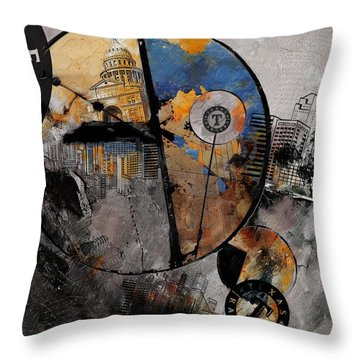 Texas - B Throw Pillow by Corporate Art Task Force