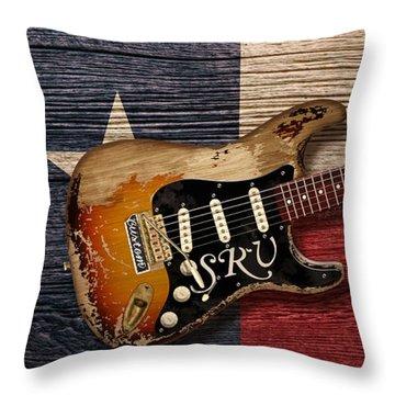 Texas Blues Throw Pillow by WB Johnston