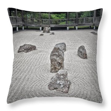 Texas Zen Throw Pillow by Joan Carroll