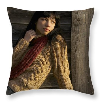 Textured Beauty Throw Pillow by Sean Griffin