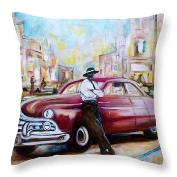 The 1950 Throw Pillow by Emery Franklin