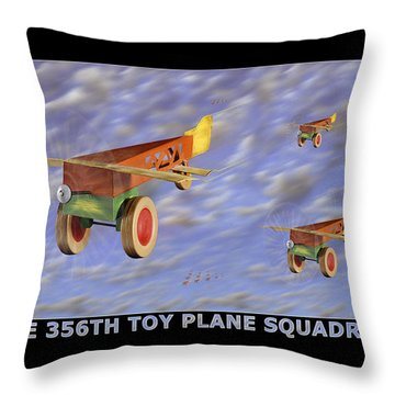 The 356th Toy Plane Squadron Throw Pillow by Mike McGlothlen