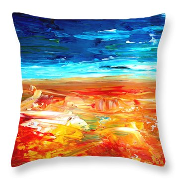 The Abstract Rainbow Beach Series II Throw Pillow by M Bleichner