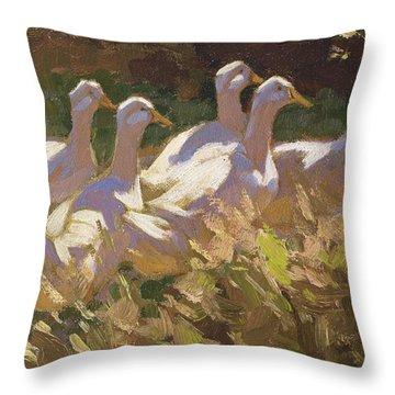 The Adventurers Throw Pillow by Edgar Downs