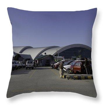 The Airport In Srinagar The Capital Of Jammu And Kashmir Throw Pillow by Ashish Agarwal