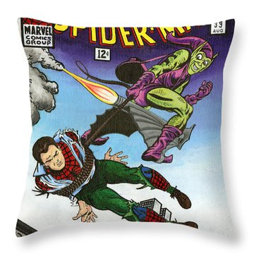 The Amazing Spider-man 39 Throw Pillow by Steve Benton