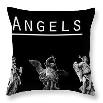 The Angels Of Rome Throw Pillow by Fabrizio Troiani