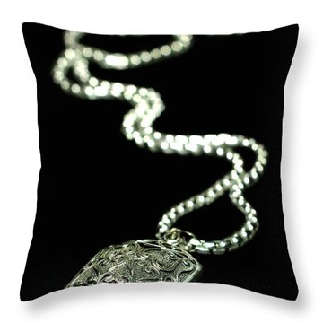 The Antique Locket Throw Pillow by Diana Angstadt