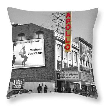 The Apollo Theater Throw Pillow by Nina Bradica