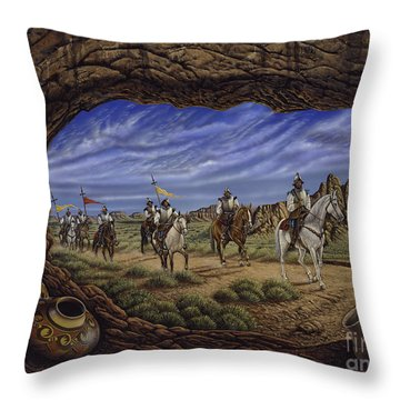 The Arrival Throw Pillow by Ricardo Chavez-Mendez
