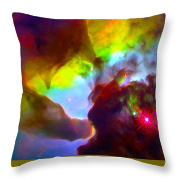 The Art Of The Universe 266 Throw Pillow by The Hubble Telescope