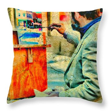 The Artist Throw Pillow by Diana Angstadt