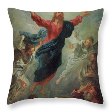 The Ascension Throw Pillow by Jean Francois de Troy