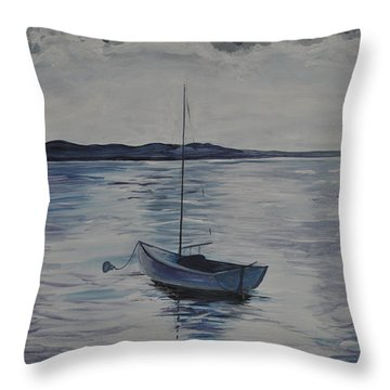 The Bay Throw Pillow by Sally Rice