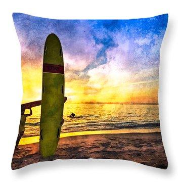 The Beach Boys Throw Pillow by Debra and Dave Vanderlaan