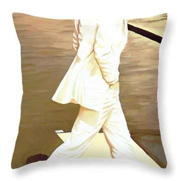 The Beatles Abbey Road Artwork Part 4 Of 4 Throw Pillow by Sheraz A