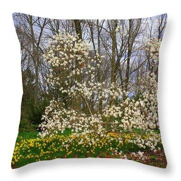 The Beauty Of Spring Throw Pillow by Dora Sofia Caputo Photographic Art and Design