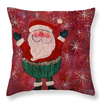 The Big Man Throw Pillow by Jane Chesnut