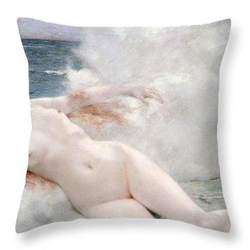 The Birth Of Venus Throw Pillow by Henri Gervex