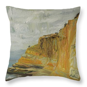 The Black Goose At Flat Rock Throw Pillow by Joseph Demaree