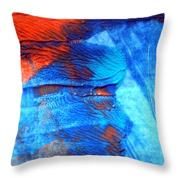 The Blue And Red Affair Acryl Knights Throw Pillow by Sir Josef Social Critic - ART