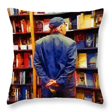 The Book Browser Throw Pillow by RC deWinter