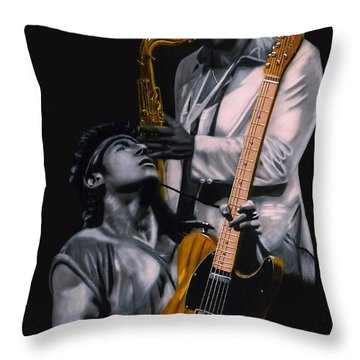 New Jersey's Bruce And Clarence Throw Pillow by Thomas J Herring