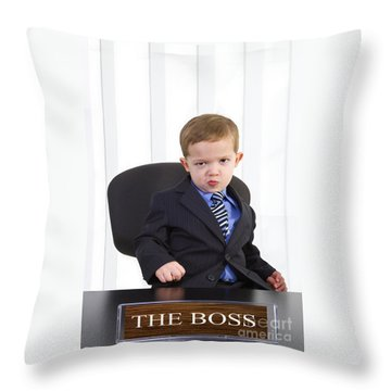 The Boss Throw Pillow by Diane Diederich