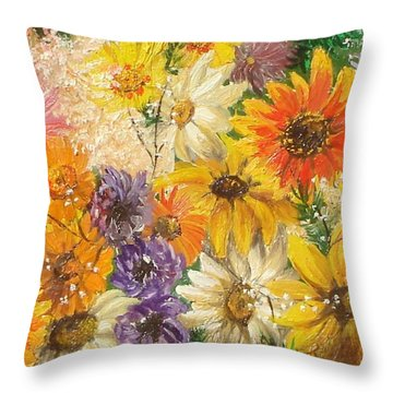 The Bouquet Throw Pillow by Sorin Apostolescu