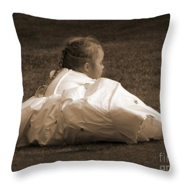 The Bridesmaid Throw Pillow by Terri Waters