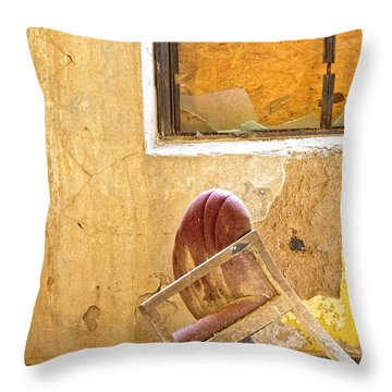 The Broken Chair Throw Pillow by Carolyn Fox