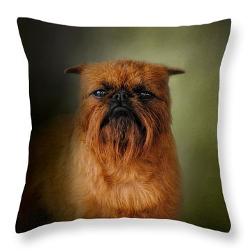 The Brussels Griffon Throw Pillow by Jai Johnson