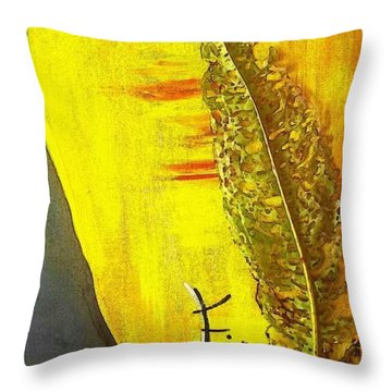 The Bugs Got To It First Throw Pillow by PainterArtist FIN