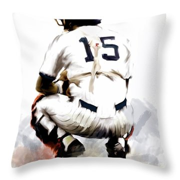 The Captain  Thurman Munson Throw Pillow by Iconic Images Art Gallery David Pucciarelli