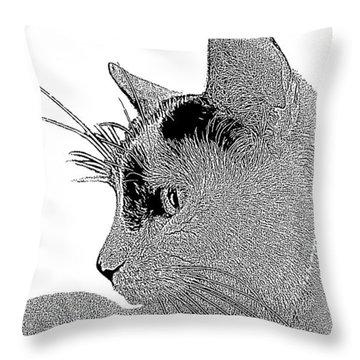 The Cat Throw Pillow by Ben and Raisa Gertsberg